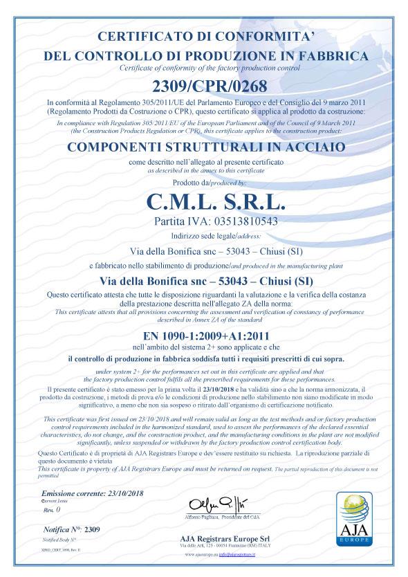 Certificato 1090